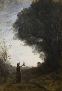 Orpheus Greeting the Dawn painting by Jean-Baptiste-Camille Corot