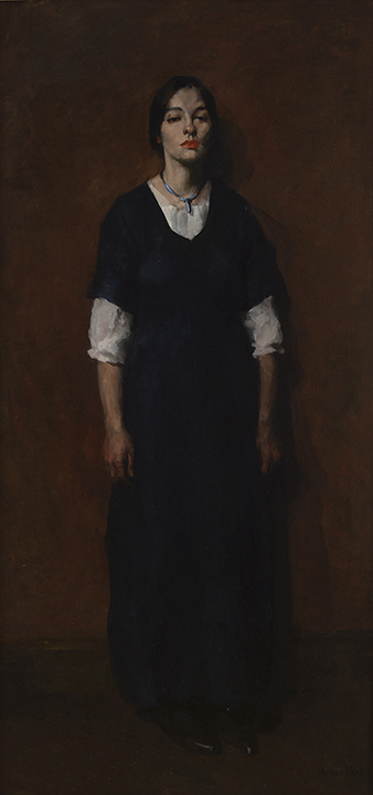 Young Woman in Black painting by Homer Boss