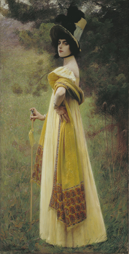 The Shawl painting by CHARLES SPRAGUE PEARCE