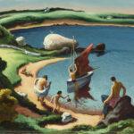Thomas Hart Benton painting of beach