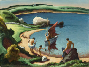 Thomas Hart Benton painting of beach
