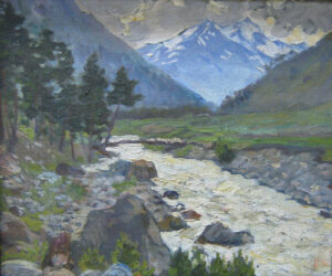 Altai mountains painting