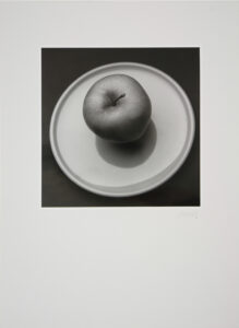 Apple on Plate Image by Toni Dusek