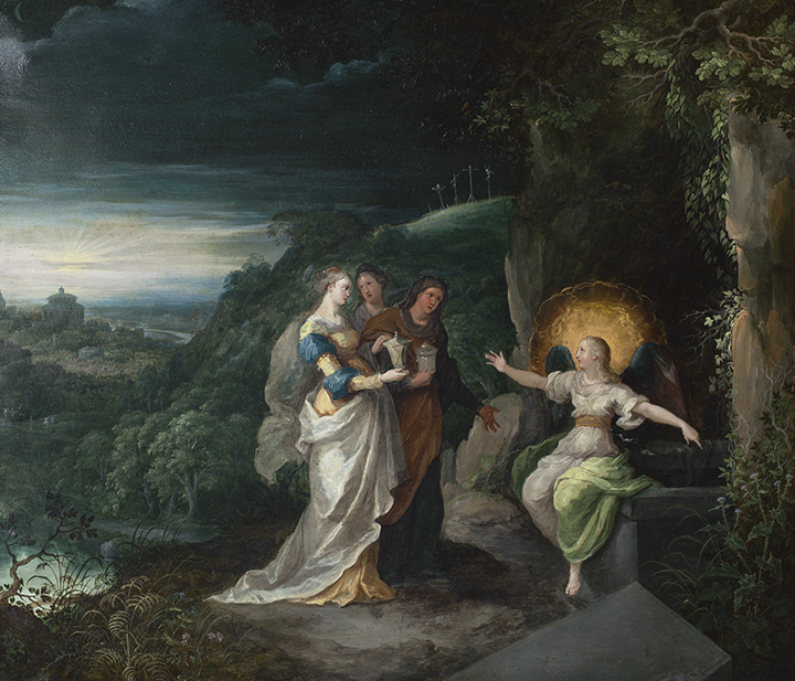 The Marys at the tomb painting
