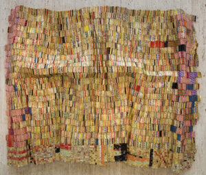 Danu sculpture by artist El Anatsui