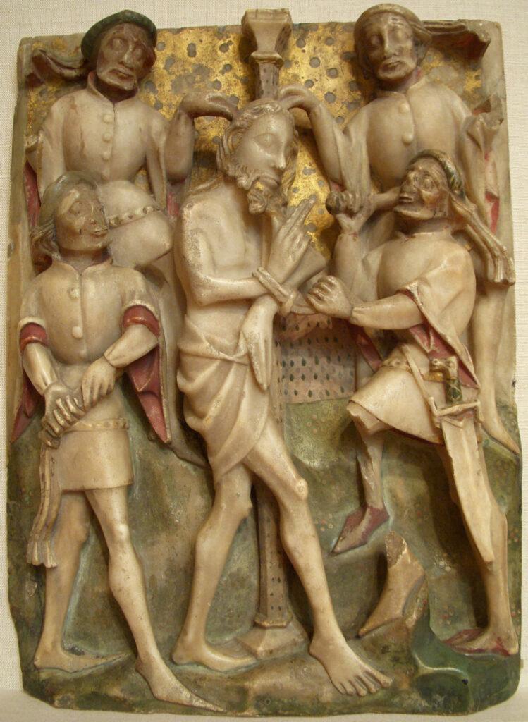 Flagellation of Christ alabaster
