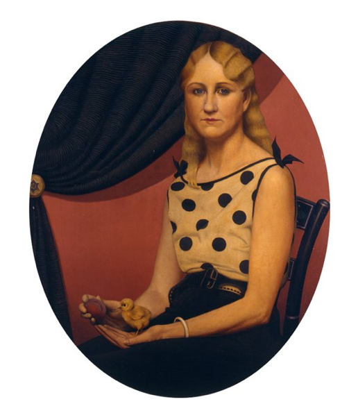 Portrait of Nan by Grant Wood