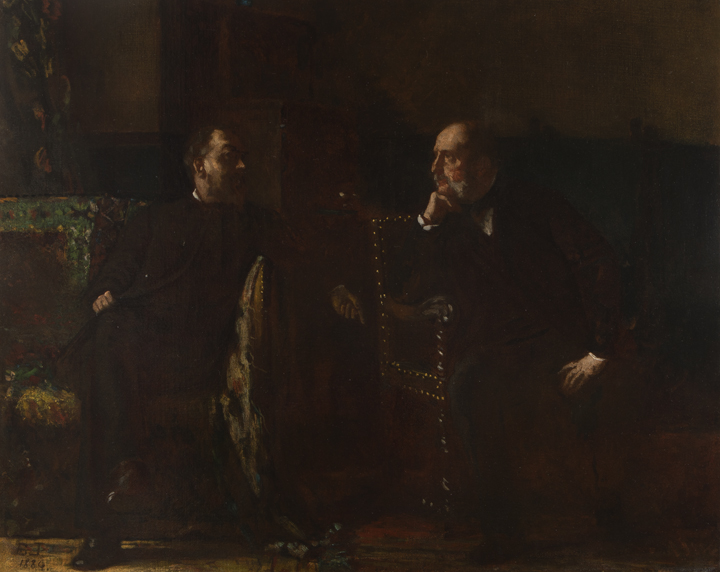 Two Men (Study for The Funding Bill)