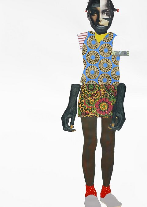Collage Face to Face by artist Deborah Roberts