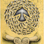 Roberto Torres Mata (American, b. 1988), Give, 2021, spit-bite, aquatint, serigraph, lithograph, 24 x 18 in.