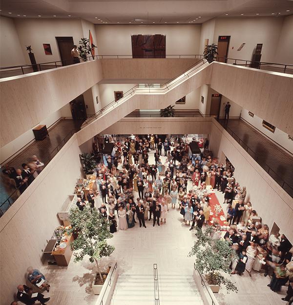 Opening night at the Elvehjem Art Center, Sept. 11, 1970